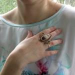 авторское кольцо, дизайнерское кольцо, кольцо с яшмой, кольцо с камнем, крупное кольцо, купить кольцо, купить в Москве